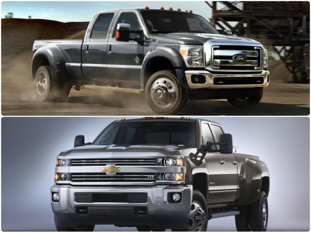 chevy ford renew pickup battle with updated heavy duty trucks. Black Bedroom Furniture Sets. Home Design Ideas