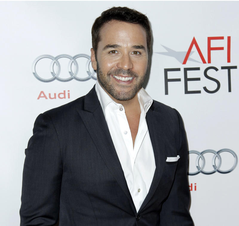 """FILE - In this file photo taken on Nov. 7, 2011, actor Jeremy Piven arrives at the screening of """"I Melt With You"""" during AFI FEST 2011, in Los Angeles. """"Masterpiece"""" executive producer Rebecca Eaton said Wednesday, July 25, 2012, that Piven will star in """"Mr. Selfridge,"""" a drama series about the flamboyant American who founded the British department store Selfridges. (AP Photo/Matt Sayles, File)"""