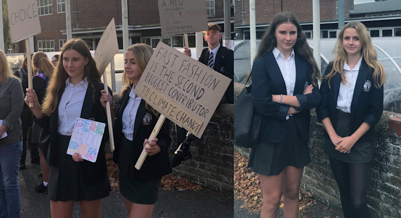 Pupils at the East Sussex school staged a protest. [Photo: PA]