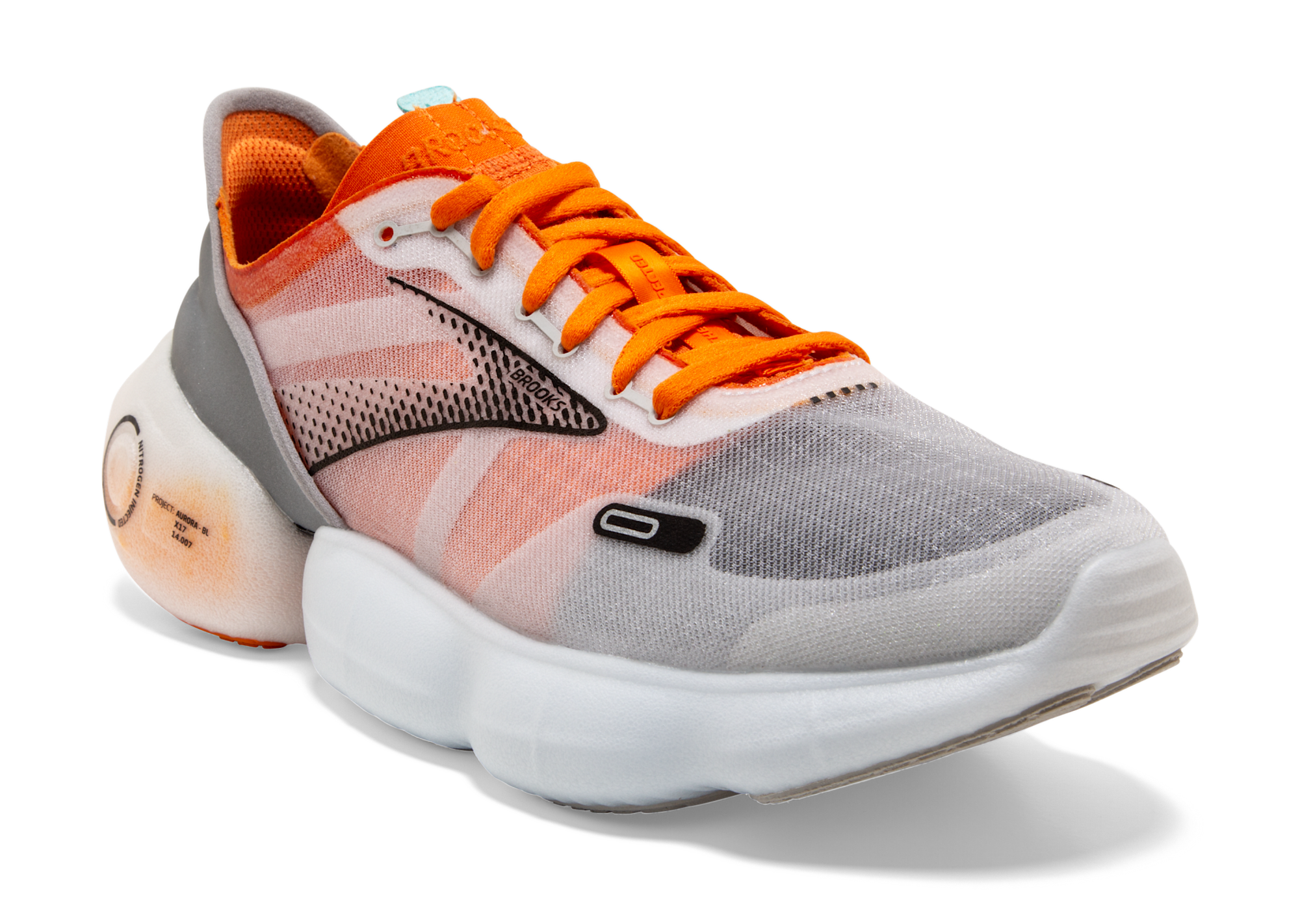 Brooks debuts the Aurora-BL, a gravity-defying running shoe that features nitrogen-injected cushioning