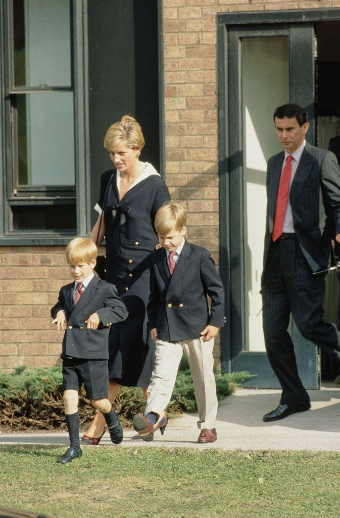 <p>In the fall of 1990, Diana took her nautical style to the next level, matching her sailor dress to her boys' suits.<br></p>