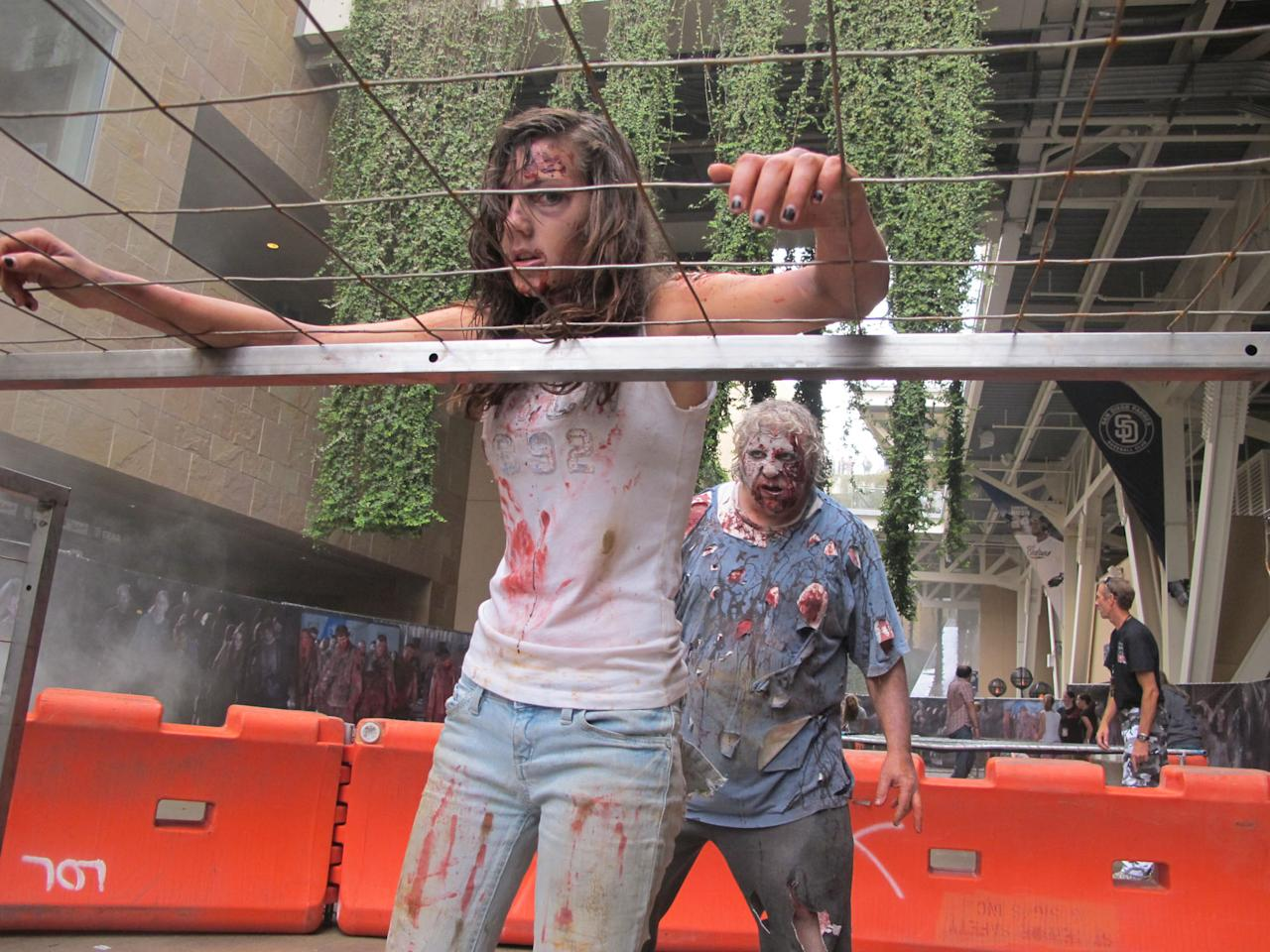 "The second annual ""The Walking Dead Escape,"" a zombie obstacle course at Petco Park during Comic-Con weekend in San Diego, July 19th and 20th."