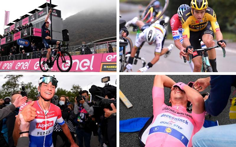 Mathieu van der Poel wins Tour of Flanders; Tao Geoghegan Hart climbs to fourth with Giro d'Italia stage win