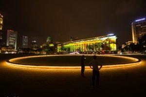 "Art installation ""There in the Middleness"" by artist Nathan Yong at the Padang. Photo: National Gallery Singapore"