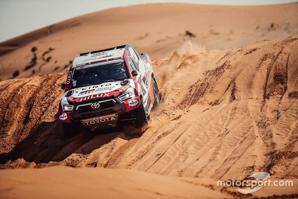"Toyota Gazoo Racing en acción en el Dakar 2021<span class=""copyright"">Toyota Gazoo Racing South Africa</span>"