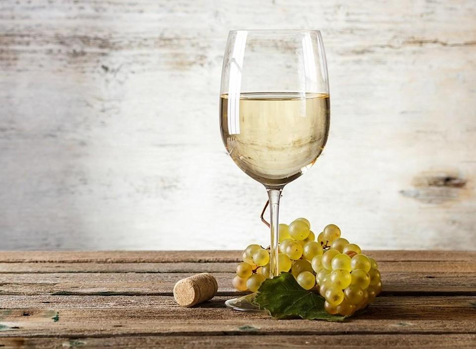 White wine glass table