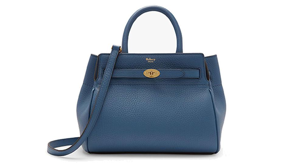 Mulberry Small Belted Bayswater Heavy Grain Leather Handbag