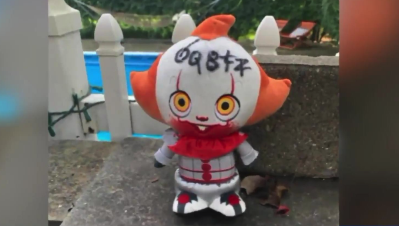 Pennywise doll floats into couple's backyard in bizarre and unexplained incident