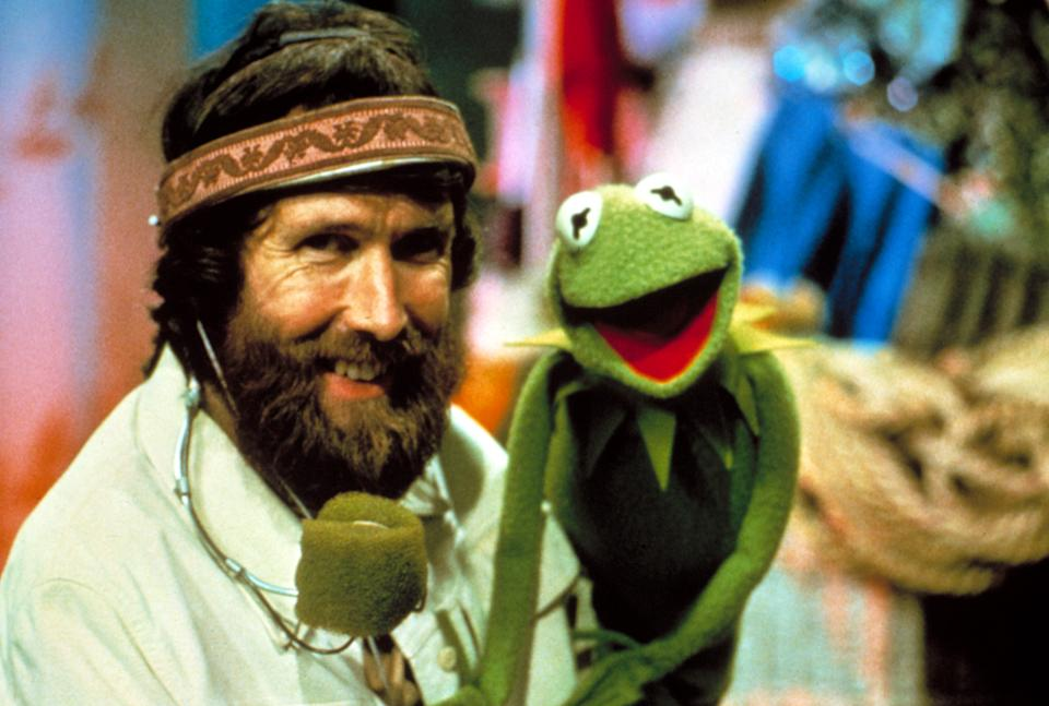 Jim Henson and his signature creation, Kermit the Frog, on the set of The Muppet Show (Photo: TriStar Pictures/Courtesy Everett Collection)
