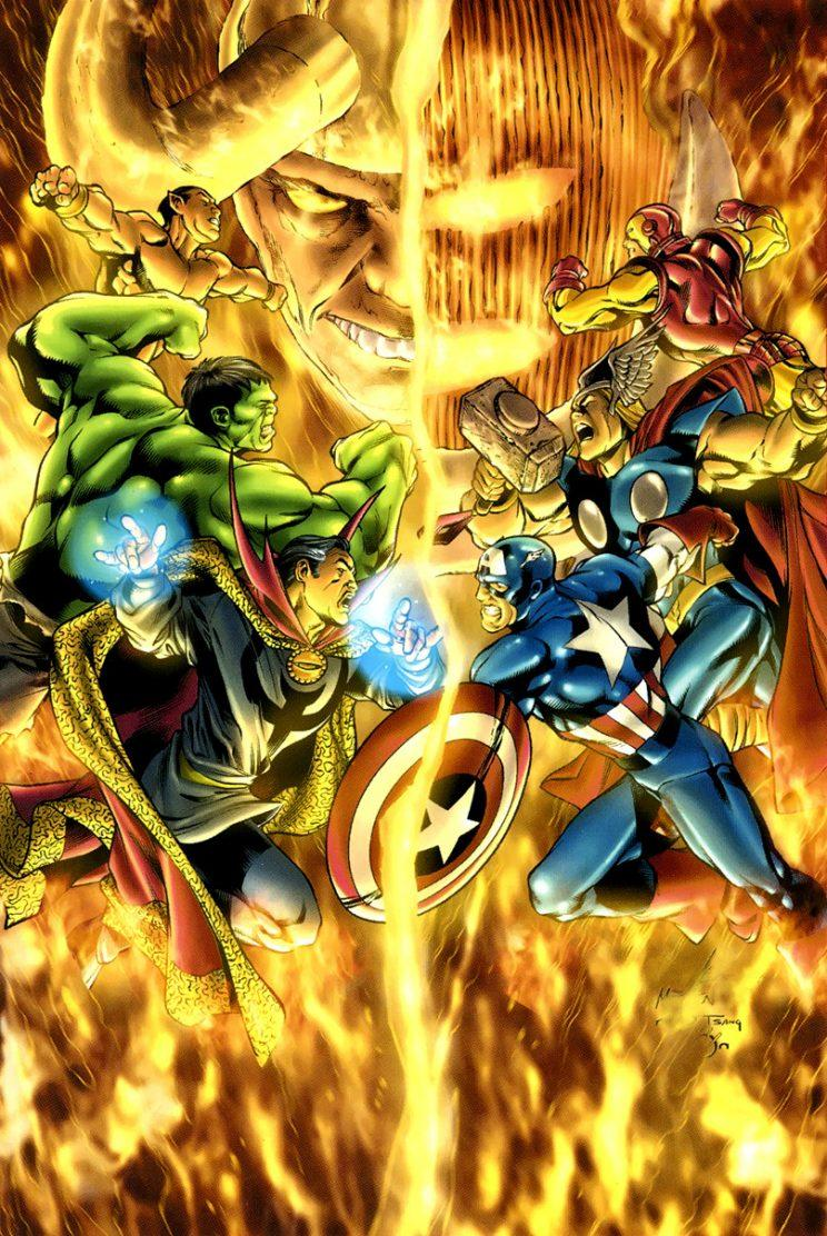 It takes the combined might of two superhero grous when Dormammu and Loki team up (Marvel)