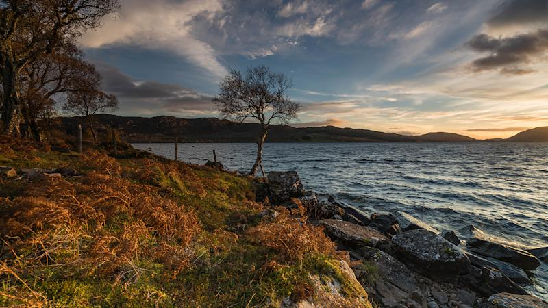 A gorgeous Autumnal day by Loch Duntelchaig in Inverness