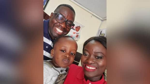 Samuel and Itunu Oremade adopted their son Andrew in 2019. During the long wait for Andrew's citizenship to be processed, the couple have been forced to return to their home in Airdrie, Alta., while their son remains in the care of Itunu's 79-year-old mother in Nigeria. (Submitted by the Oremade family - image credit)