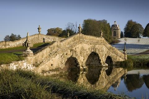 Oxford Bridge at Stowe - Credit: national trust