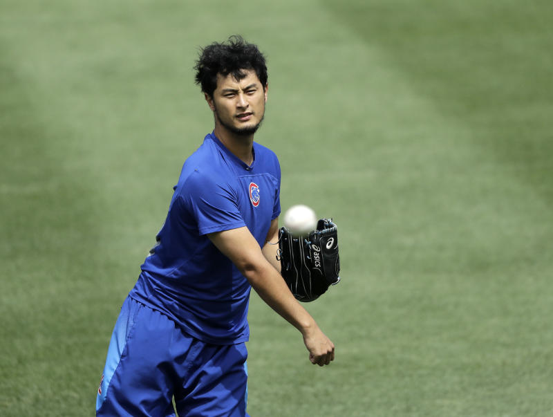 Cubs' Darvish exits rehab start after 1 inning