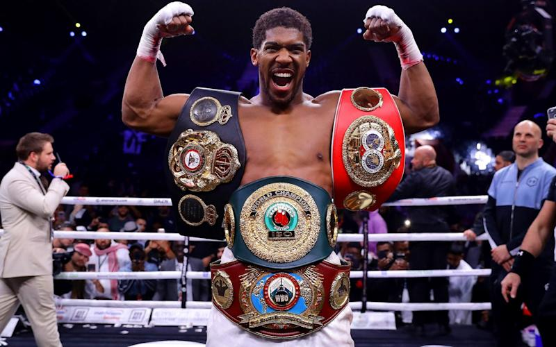 Belt drive: Anthony Joshua has regained his titles - Getty Images Europe