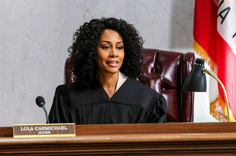 "Simone Missick stars as newly appointed Judge Lola Carmichael in CBS courtroom drama ""All Rise."""