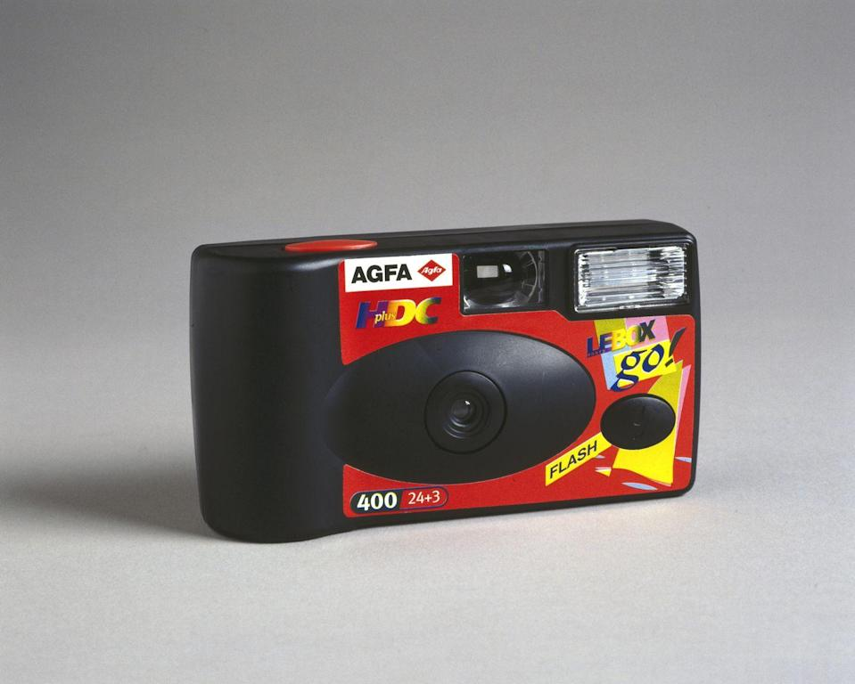 <p>Long before Instagram existed, disposable cameras were a trendy wedding accessory in the 1990s—couples placed them at tables so guests could capture moments throughout the reception. </p>