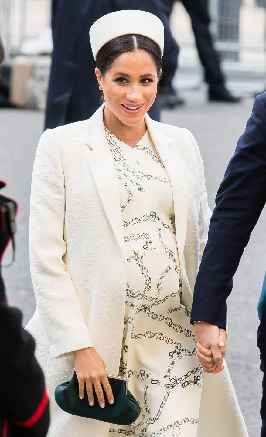 """<p>Unlike royal women before her, Meghan chose not to share any info about her birth plan with the public, and instead released a statement, <a href=""""https://www.cosmopolitan.com/entertainment/a27110108/meghan-markle-breaking-royal-protocol-birth-plan/"""" rel=""""nofollow noopener"""" target=""""_blank"""" data-ylk=""""slk:saying"""" class=""""link rapid-noclick-resp"""">saying</a>, """"Their Royal Highnesses have taken a personal decision to keep the plans around the arrival of their baby private. The Duke and Duchess look forward to sharing the exciting news with everyone once they have had an opportunity to celebrate privately as a new family.""""<br></p>"""