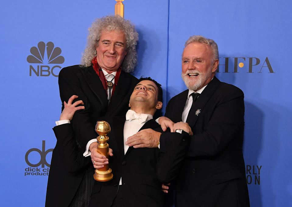 """Bohemian Rhapsody"" pulled a major upset at the close of the Golden Globes on Sunday, taking home the final two top prizes to put itself into the Oscars conversation along with ""Green Book"" and ""Roma."""