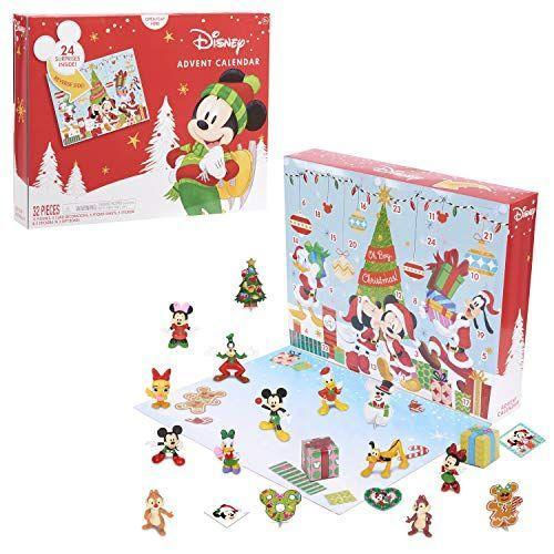 """<p><strong>Disney</strong></p><p>amazon.com</p><p><strong>$29.99</strong></p><p><a href=""""https://www.amazon.com/dp/B0851HMW2Q?tag=syn-yahoo-20&ascsubtag=%5Bartid%7C10055.g.4911%5Bsrc%7Cyahoo-us"""" rel=""""nofollow noopener"""" target=""""_blank"""" data-ylk=""""slk:Shop Now"""" class=""""link rapid-noclick-resp"""">Shop Now</a></p><p>Spend the entire month of December hanging out with Mickey and his closest friends. Each door reveals a festive surprise, including mini Disney figurines and an assortment of holiday accessories. </p><p><strong>RELATED:</strong> <a href=""""https://www.goodhousekeeping.com/childrens-products/toy-reviews/g28939299/toy-advent-calendars-for-kids/"""" rel=""""nofollow noopener"""" target=""""_blank"""" data-ylk=""""slk:Toy Advent Calendars That Kids Love"""" class=""""link rapid-noclick-resp"""">Toy Advent Calendars That Kids Love </a></p>"""