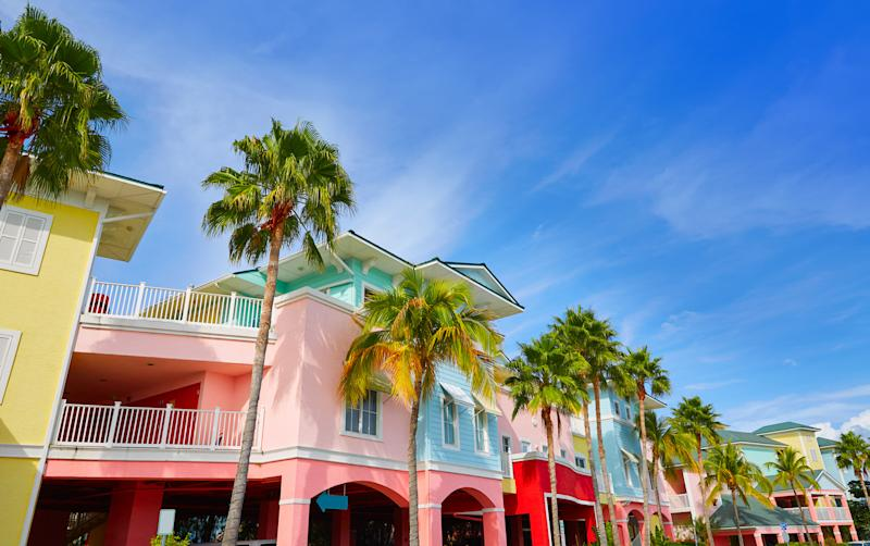 exterior of colorful residence in fort myers,florida