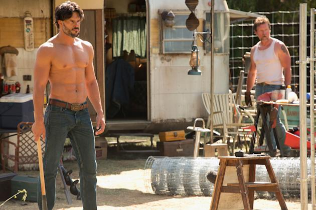 Joe Manganiello as Alcide and Robert Patrick as Jackson in 'True Blood'