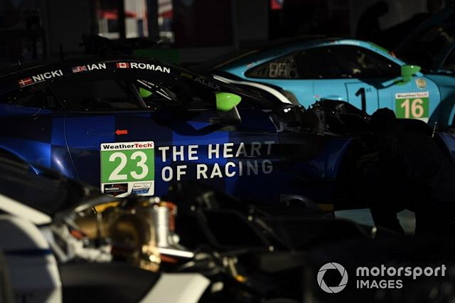 "#23 Heart Of Racing Team Aston Martin Vantage GT3, GTD: Roman De Angelis, Nicki Thiim, Ian James, Alex Riberas <span class=""copyright"">Richard Dole / Motorsport Images</span>"