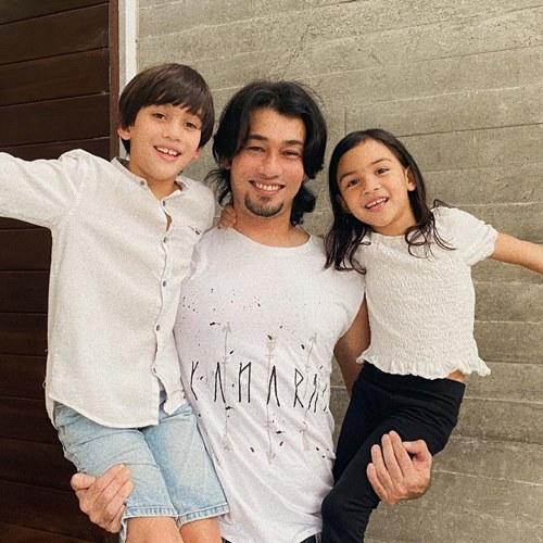 Farid with his two children