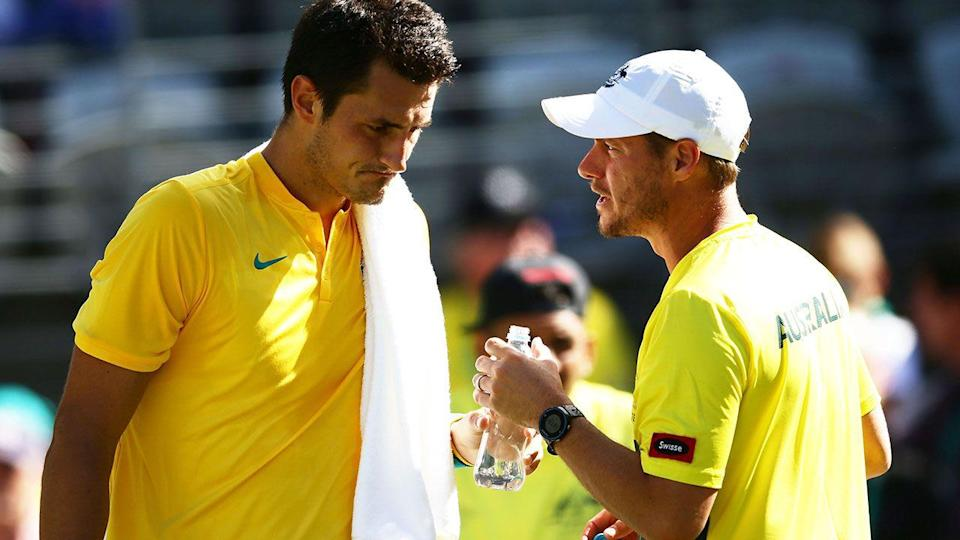 Tomic and Hewitt. Image: Getty