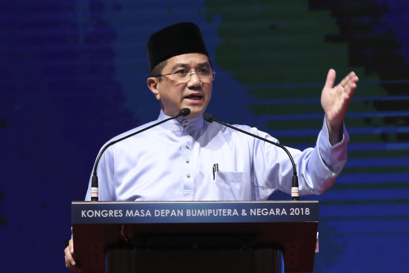 Datuk Seri Azmin Ali said Putrajaya is reviewing the multi-billion dollar Forest City project in southern Johor because Malaysia does not stand to benefit from it. — Picture by Yusof Mat Isa