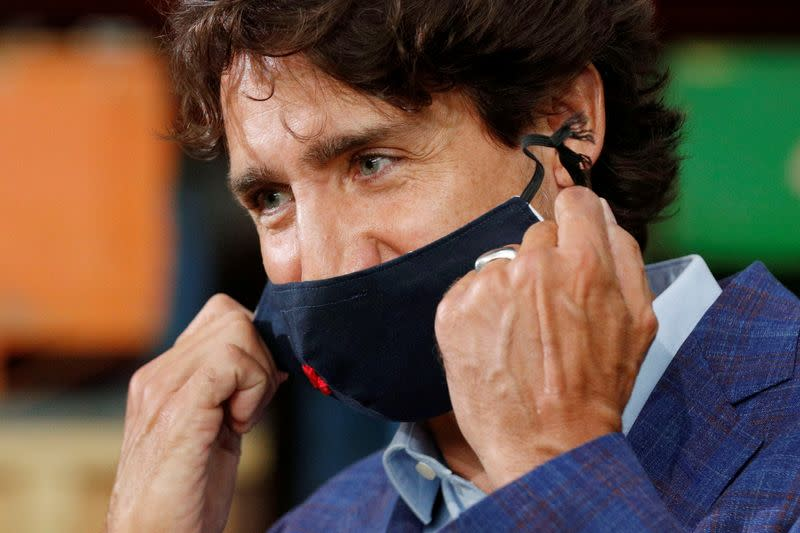 FILE PHOTO: Canada's Prime Minister Justin Trudeau and Ontario Premier Doug Ford visit 3M's plant in Brockville