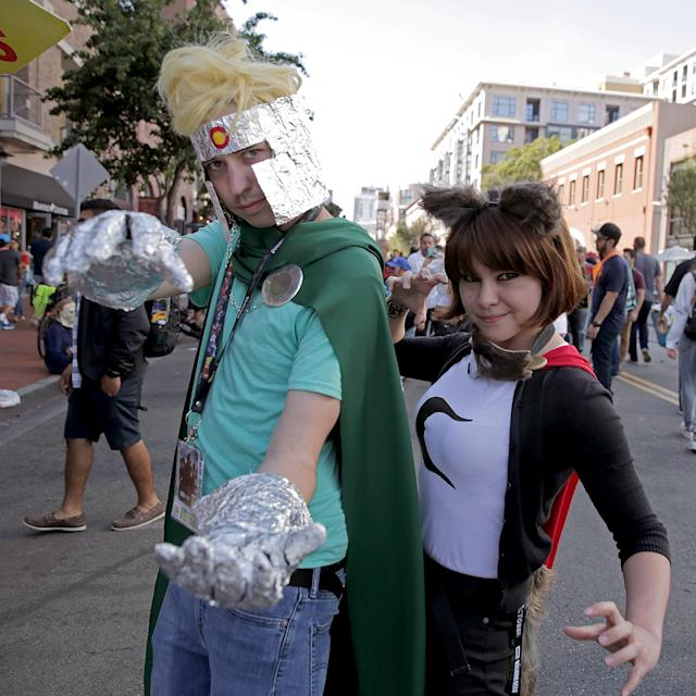 <p>Cosplayers at Comic-Con International on July 20, 2018, in San Diego. (Photo: Quinn P. Smith/Getty Images) </p>