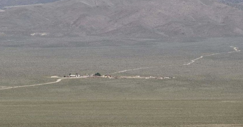 The Medlin Ranch, located next to Area 51, is on the market. Source: realtor.com