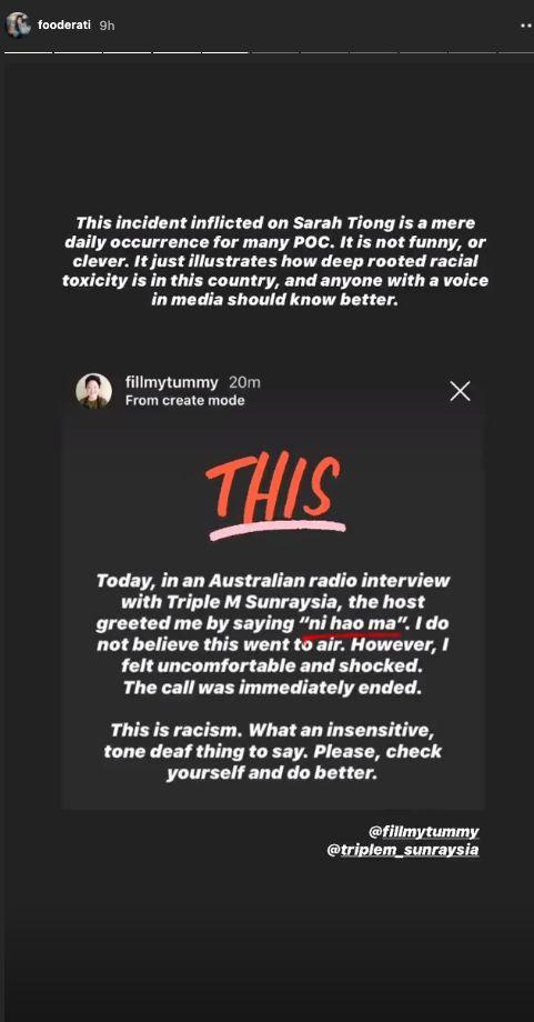 Melissa Leong condemned the interview. (Photo: Instagram )
