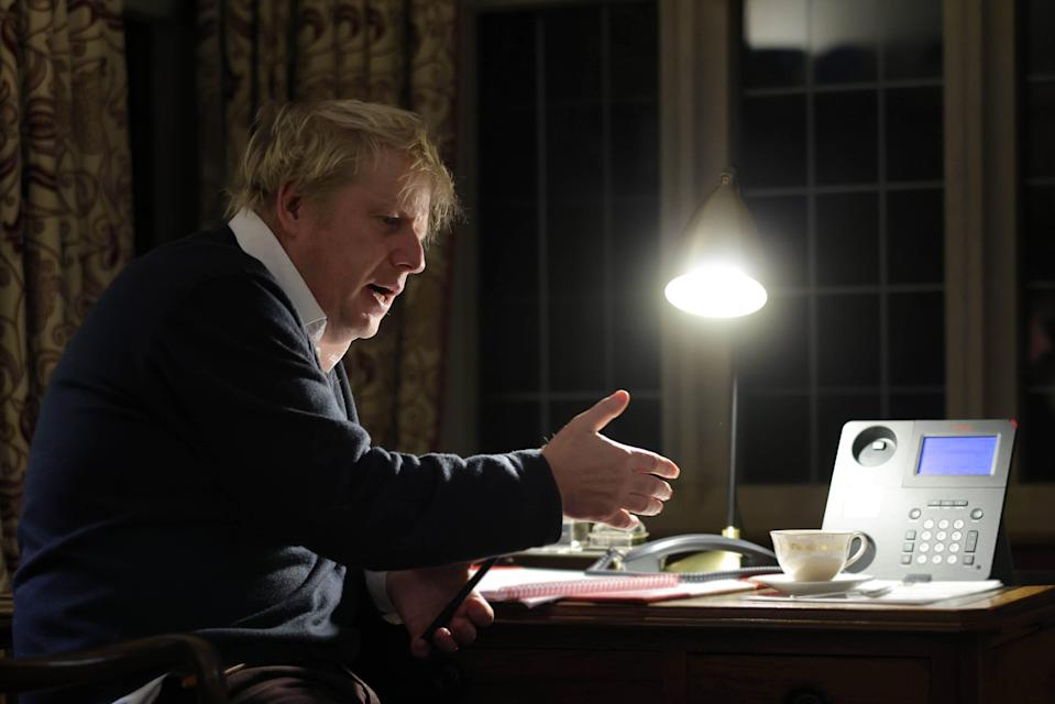 <p>Boris Johnson talks with EU Commission president Ursula von der Leyen</p> (Andrew Parsons / No10 Downing St)