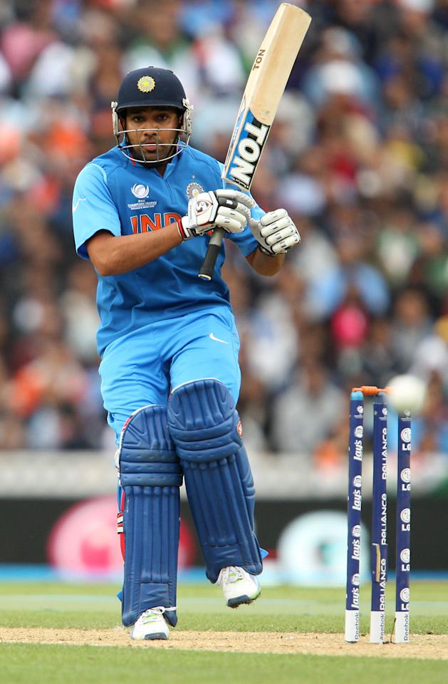 India's Rohit Sharma in action during the ICC Champions Trophy match at the Kia Oval, London.