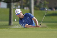 Zach Johnson hits from a bunker on the third hole during the first round of the Honda Classic golf tournament, Thursday, March 18, 2021, in Palm Beach Gardens, Fla. (AP Photo/Marta Lavandier)