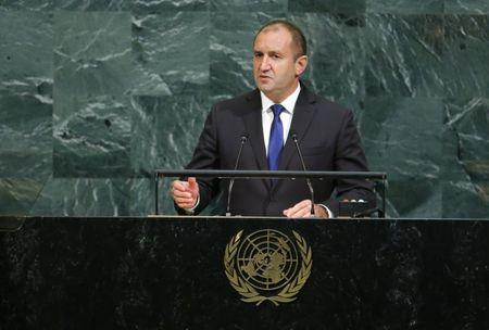 Bulgarian President Radev addresses the 72nd United Nations General Assembly at U.N. headquarters in New York