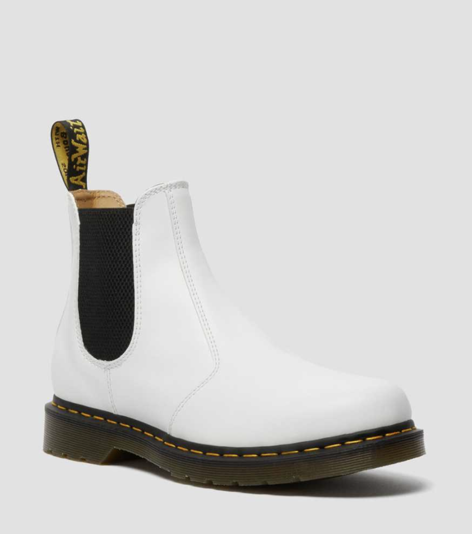 2976 Yellow Stitch Smooth Leather Chelsea Boots (Photo via Dr. Martens)