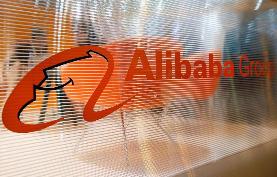 PARIS, FRANCE - MAY 25: The logo of the Chinese e-commerce company Alibaba Group is displayed during the Viva Technology show at Parc des Expositions Porte de Versailles on May 25, 2018 in Paris, France. Viva Technology, the new international event brings together 5,000 startups with top investors, companies to grow businesses and all players in the digital transformation who shape the future of the internet. (Photo by Chesnot/Getty Images)