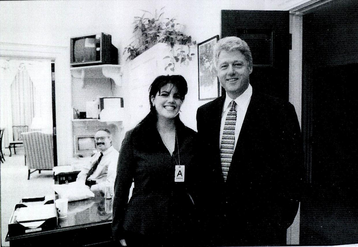An undated photograph showing White House intern Monica Lewinsky and President Bill Clinton in the White House. (Photo: House Judiciary Committee via Getty Images)