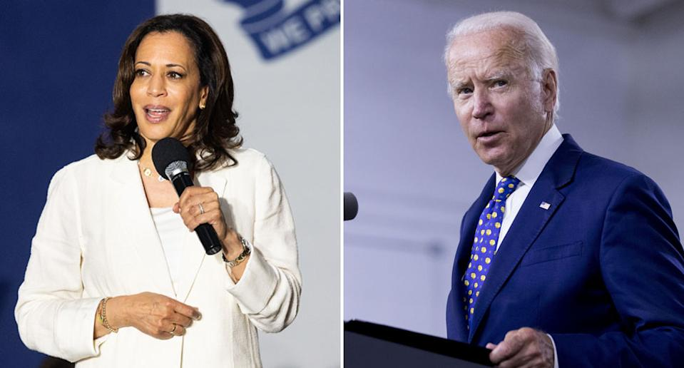 Kamala Harris has been selected by Joe Biden as his running mate. Source: AAP