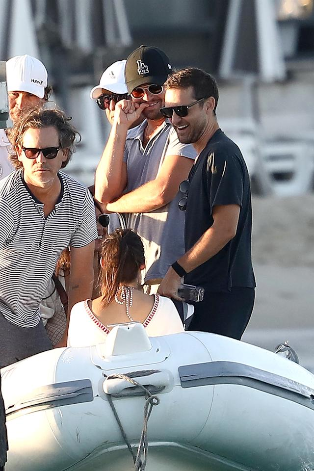 <p>The famous friends did the usual and chilled out with models aboard a yacht during a vacation in St. Tropez. What a life! (Photo: Best Image/BACKGRID) </p>