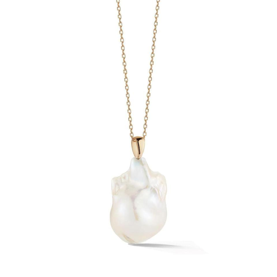 "<p>""Even when I'm dressed down, I also mix in special pieces of jewelry. I find natural elements like a single baroque pearl to be very calming, hence this <span>Mateo New York 14kt Gold Baroque Pearl Necklace</span> ($450).""</p>"