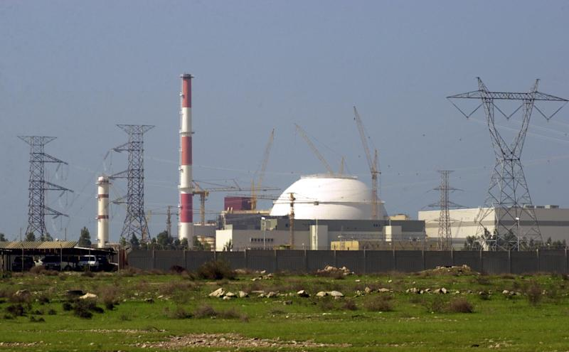 FILE - In this Feb. 27, 2005 file photo, the reactor building of Iran's nuclear power plant is seen, at Bushehr, Iran,  750 miles (1,245 kilometers) south of the capital Tehran, Iran's star-crossed nuclear and energy programs have suffered a rash of setbacks, mishaps and catastrophes in the past two years. Has Iran just been unlucky? Probably not.  (AP Photo/Vahid Salemi, file)