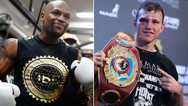 Mayweather and Horn. Image: Getty