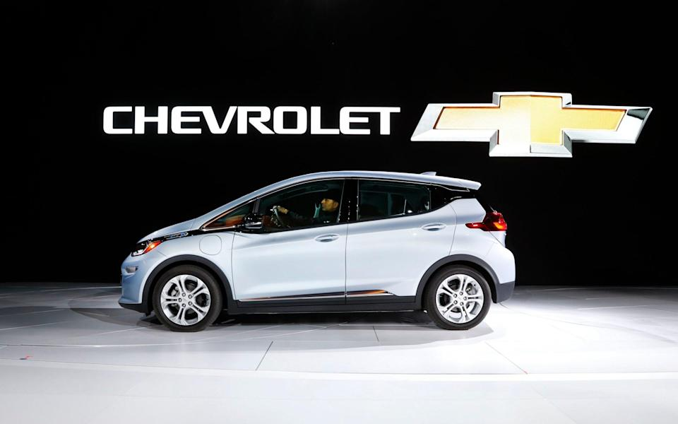 The Chevrolet Bolt on display at the North American International Auto Show - Paul Sancya/AP