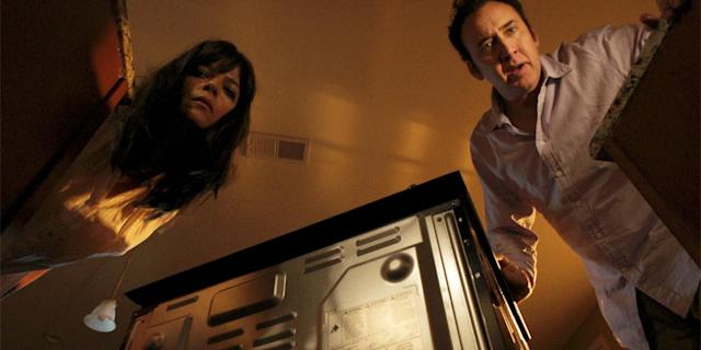 Selma Blair and Nicolas Cage as a pair of murderous parents in <em>Mom and Dad</em>.(Photo: Courtesy of TIFF)