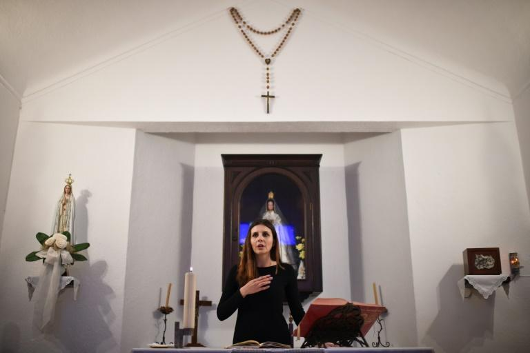 Social worker Claudia Rocha is one of a number of women to lead services in churches in Portugal because of a shortage of Catholic priests