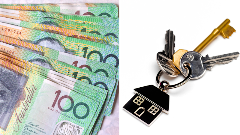 Australian dollars and house keys. Source: Getty Images